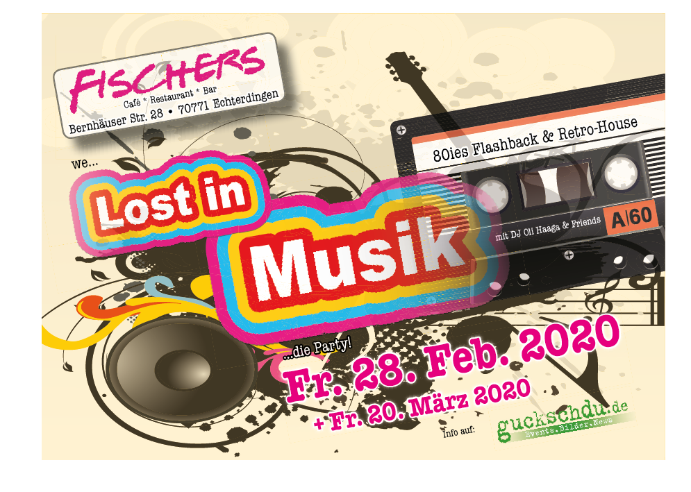 Lost in Music Flyer Dez 191